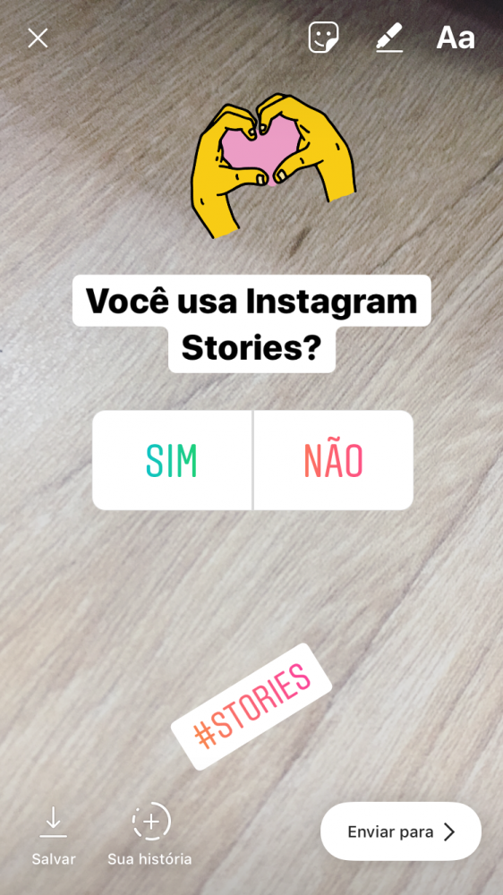 Instagram Stories: Enquetes