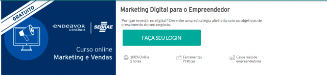 Cursos gratuitos online: Marketing Digital para o Empreendedor  - Endeavor