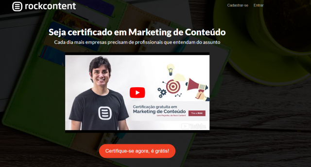 Cursos gratuitos online: Marketing de Conteúdo - Rock Content
